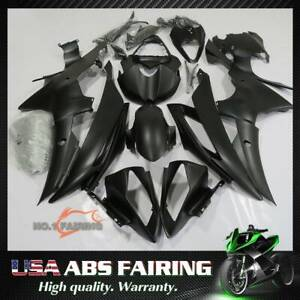 Fit For Yamaha YZF-R6 2008-2016 Matte Black ABS Motorcycle Bodywork Fairings Kit