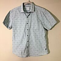 Kuhl Men's Intrepid Button Down Short Sleeve Shirt Small Tapered Fit Blue