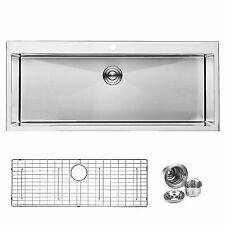 "BAI 1223 - 48"" Handmade Stainless Steel Kitchen Sink Single Bowl Top Mount"
