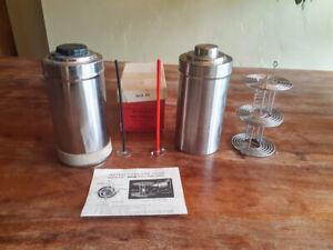 Nikor Stainless Steel Film Tank w/ Original Box and Loader Plus Extra Tank