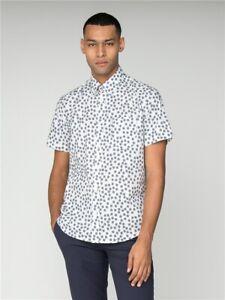 Ben Sherman Scattered Scratch Geo Short Sleeve Mens Shirt