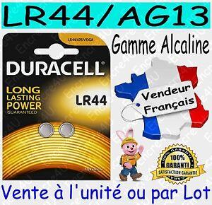 Piles DURACELL TYPE AG13 LR44 - Dispo aussi : CR2016 CR2025 CR2032 CR2430 CR2450