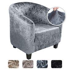 Tub Chair Covers Plush Elastic Velvet Fabric Armchair Sofa Cover Seat Slipcover`