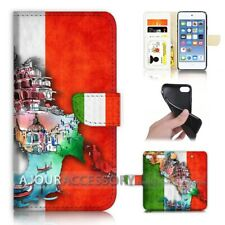 ( For iPod Touch 6 ) Wallet Flip Case Cover AJ40331 Italy Flag