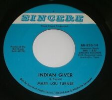Mary Lou Turner~Indian Giver / If God Can Forgive You) So Can I~With AUTOGRAPH