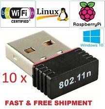 10 X Realtek Mini USB Wireless 802.11B/G/N LAN Card WiFi Network Adapter RTL8188