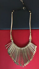 """19"""" Spiky Silver & Leather Artisan Made Necklace Tribal Design w Hook"""