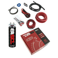DS18 AMPKIT 4 Gauge Amp Kit Amplifier Install Wiring Complete 2 Farad Cap