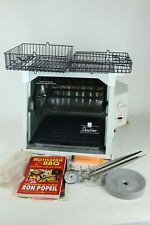 White Ronco Showtime Rotisserie & BBQ Oven Model 4000 + Accessories - Works!