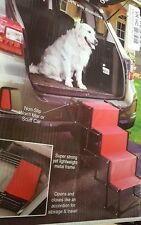 Indoor/Outdoor 4 Step Accordion Metal Frame Folding Dog steps NO BOX REPACKED!