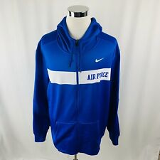 Nike Therma US Air Force Military Blue Full Zip Jacket Hoodie Mens 3XL XXXL