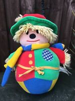 Vintage Mamas & Papas Roly Poly Chiming Scarecrow 10 Inches
