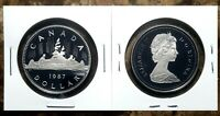 Canada 1987 Voyageur Proof Gem UNC Nickel Dollar!!