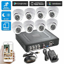8CH 264.H CCTV DVR Home Burglar Security System,720P AHD Camera,Day/night IR Cut
