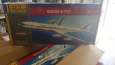 BOEING 707 (DECO AIR FRANCE & BOAC)  HELLER 1/72 PLASTIC KIT
