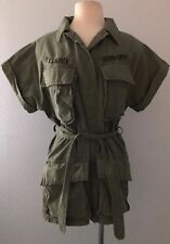 Ralph Lauren Denim & Supply Army Safari Belted Short Sleeved Jacket NWT