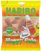 Haribo Halal Cola Bottles Mini Sour Fizzy Sweets Cola Flavour Gums Candy 100g