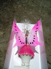 "Pink Butterfly Fiber Optic Night Light 9"" X 4 ½"""