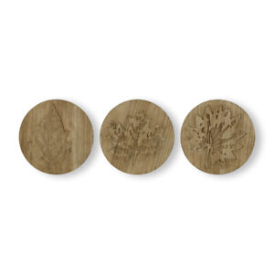 Art for the Home Wood Leaves Set of 3 Wooden Wall Art