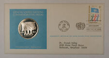 1975 Postmasters Of America Commemorative Silver Medal United Nations XXX