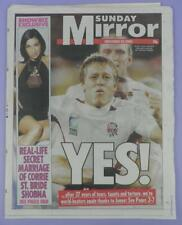 Sunday Mirror Newspaper 23rd November 2003 - England Rugby World Cup Winners