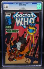 CGC 9.8 Marvel Comics DOCTOR WHO #2 Tom Baker 1984 white pages Dave Gibbons art
