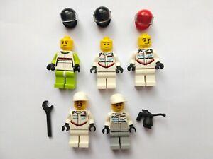 LEGO Speed Champion Minifigures Bundle, Racing Drivers, Porsche