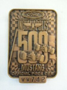 1994 Indianapolis 500 Bronze WW742 Pit Badge 2x Al Unser Mustang Marlboro Penske