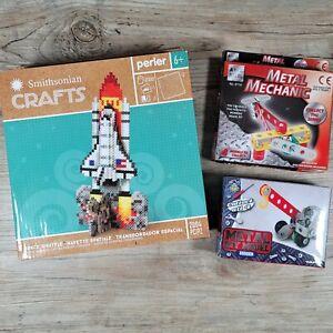 Perler Bead Space Shuttle, Metal Mechanics Plane, Metal Digger Kit Kid Crafts