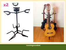 X2 Haze GS012 Black Triple Guitar Stand - Reliable Strong And Sturdy