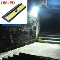 180 LED Solar Powered Motion Sensor Light Outdoor Garden Security Wall Lights UK
