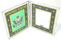 AMIA Hand Painted Glass Beveled Screen Photo 3 x 4 Frame United States Army