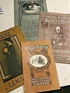 4 Vintage Goerz Camera and Lens Brochures Rare find!