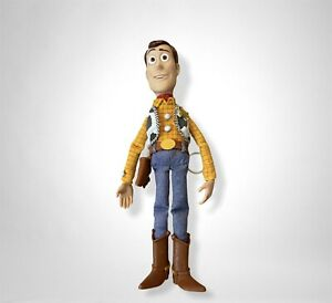 """Toy Story Pull String Woody 14"""" Figure Thinkway Toys Cowboy Disney Rare"""