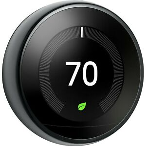 NEW Google Nest Learning Thermostat  A0013 - black 3rd generation sealed
