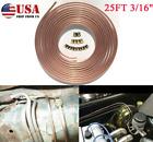 25ft 316od Coil Rolls Iron Copper Nickel Brake Line Tubing Kit Repair Fitting