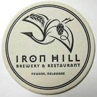 IRON HILL BREWERY Beer COASTER Mat, Newark DELAWARE 1997