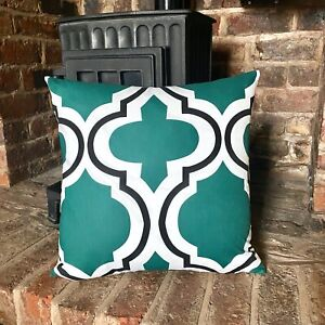 1074. MAROCCAN GREEN MOSAIC 100% Cotton Cushion Cover. Various sizes