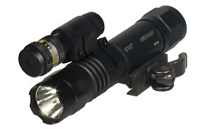 UTG LT-ELP38Q LED Weapon Light with QD Mount and Adjustable Red Laser