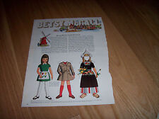 Betsy's Writes from Holland 1969 Vintage Betsy McCall Magazine Paper Doll