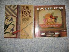 2 Books Rug Hooking Patterns Projects Primitive Folk Art Hc Dj Boswell Linsley