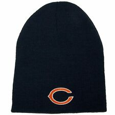 CHICAGO BEARS KNIT BEANIE HAT OFFICIAL LOGO WINTER CAP - ONE SIZE -BLUE