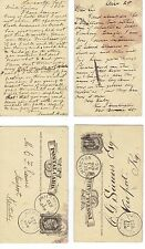 RARE 34 POSTCARD LOT FROM THE 1870's TO 1880's VARIOUS ENTOMOLOGIST SIGNATURES