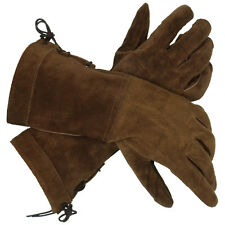 Swordsman Suede Gloves Brown or Black, LOTR, Medieval, Cosplay, LARP