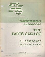 New listing 1976 Johnson Outboard 6 Hp, 6R76, 6Rl76 Parts Manual 387547 (231)