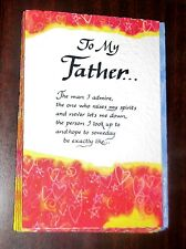 "Blue Mountain Arts Greeting Card ""To My Father, the Man I Admire"" B2GO SALE"