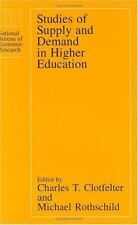 Studies of Supply and Demand in Higher Education (National Bureau of-ExLibrary