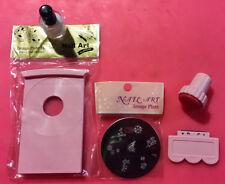 Konad Nail Art Kit, Image Plate Book & Top Coat  - Free Nail File