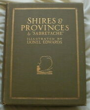 SHIRES & PROVINCES HUNTING BOOK BY SABRETACHE ILLUSTRATED LIONEL EDWARDS 1926