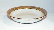 Lenox Greenfield Dessert Fruit Bowl, Green band with Gold on Ivory
